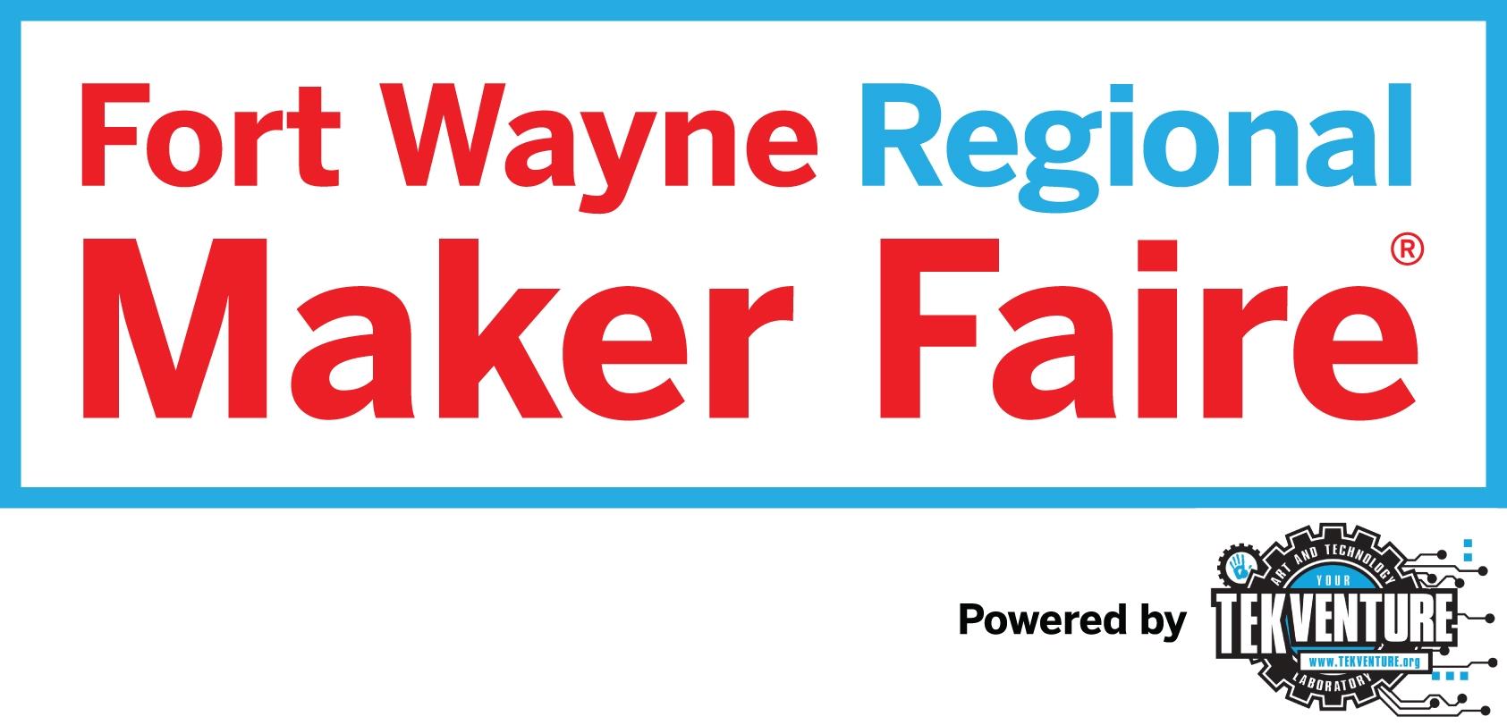 fort wayne regional maker faire logo horizontal poster banners